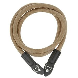 Light Brown Nylon Rope Camera Neck Strap for Film Digital Canon Nikon Fuji Sony