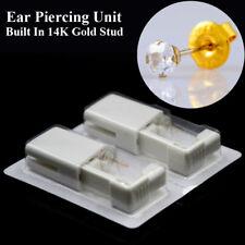 Disposable Sterile Eae Piercing Gun Unit Piercing Tool Built In 14K Gold Stud