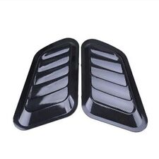 Carbon fiber Car Decorative Air Flow Vent Cover Auto SUV Hood Fenders Universal