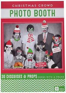 TALKING TABLES Christmas Crowd Photo Booth - 30 Disguises & Props & Photo Frame