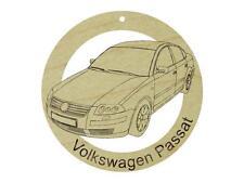 1996 Volkswagen Passat Natural Hardwood Ornament Sanded Finish Laser Engraved