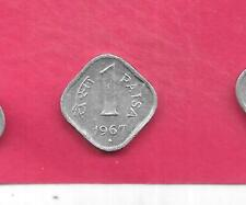 INDIA INDIAN KM10.1 1967-B VF-VERY FINE-NICE OLD VINTAGE ALUMINUM PAISE COIN