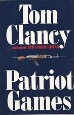 Tom Clancy Signed  Patriot Games 1st. Ed. 1987 VG++/NF