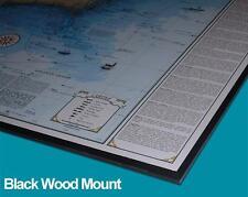 Woodmounted Florida Keys Shipwreck Chart - Nautical Chart Print Map