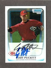 2011 BOWMAN CHROME BCP64  Cody Puckett CIN REDS SIGNED AUTOGRAPH AUTO COA