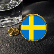 Swedish Sweden Round Flag Lapel Pin Badge Gift