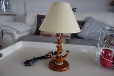 Maritime Tischlampe Boots Schiff Lampe Anker 40 x 25 cm Retro Antiklook Holz NEU