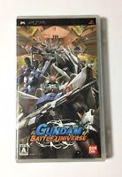 USED PSP Gundam Battle Universe JAPAN Sony PlayStation Portable Japanese import