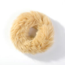 Faux Fur  Pom Pom Scrunchie Bobble Elastic Ponytail Tie Hair Bands Cheerleader