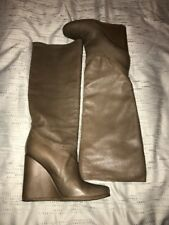 Authentic Lanvin Soft Leather Wedge Boots Size 38 $1500