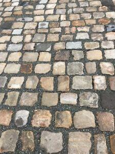 historisches Sandstein  Naturstein, Pflaster, Kopfsteinpflaster