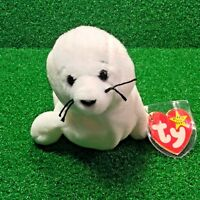 1996 SEAMORE The SEAL Retired TY BEANIE BABY Rare NO STAR PVC Plush Toy - MWNMT