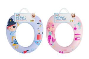 KIDS TOILET POTTY TRAINING TRAINER SEAT TODDLER HYGIENE SOFT PADDED EASY CLEAN
