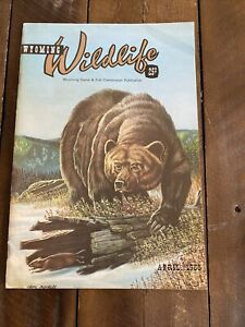 April 1966 Wyoming Wildlife Magazine Wyoming Game & Fish Comm. Publication VG