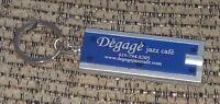 DEGAGE JAZZ CAFE Toledo Maumee Ohio KEYCHAIN Key Ring Flashlight NIGHTCLUB promo