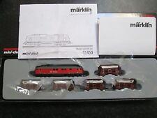 Marklin spur z scale/gauge Lime Transport Train Set. New.