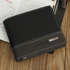 Men's Leather Credit Card Wallet Holder Slim Mini Travel Business Purse Clu {20}