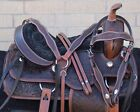 Western Leather Horse Saddle Endurance Used Pleasure Trail Gaited Tack 16 17