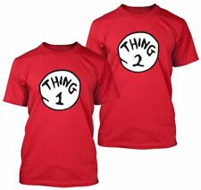 Thing 1 and Thing 2  Couples  Unisex Tshirt Small -XXL