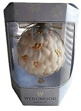 Wedgwood Mistletoe Ornament Porcelain Ball & Bell New In Box
