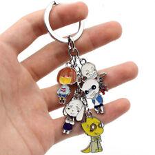 NEW Game Undertale Sans Keychain Keyring Metal Pendants Cosplay Otaku 5ps/set UK