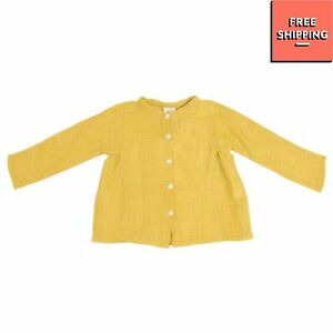 NICE THINGS MINI Blouse Size 6M 68CM Stand-Up Collar Long Sleeve Button Closed
