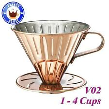New Cafe de Tiamo V02 Stainless Steel Coffee Dripper w/ Measuring Spoon HG5034BZ