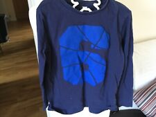Boys ESPRIT Cotton Tee Shirt Top Age 6-7 Years Blue With 6 Decal To Front 5595