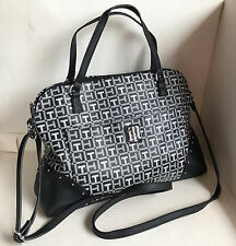 NEW ARRIVAL! TOMMY HILFIGER BLACK CONVERTIBLE DOME SATCHEL CROSSBODY BAG $89