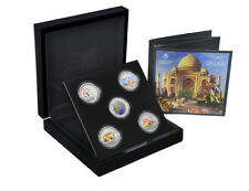 The East India Company Treasures of India Silver Proof 5 Coin set St. Helena
