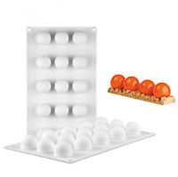 15-Cavity Round Ball Mousse Cake Mould Dessert Baking Kitchen Tool