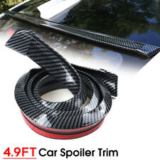 4.9FT Rubber Car Rear Wing Lip Spoiler Tail Trunk Boot Roof Trim Universal
