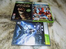 3X LOT 360 Star Wars Force Unleashed II,DEAD SPACE,MARVEL ULTIMATE ALLIANCE