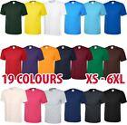 Mens & Womens Classic Plain T-Shirt Tshirt Short Sleeve Soft Wholesale Crew Neck