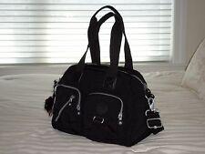 NWT Kipling DEFEA Medium Satchel Bag BLACK HB7238