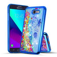 Girls Bling Glitter Sparkle Liquid Quicksand Case Cover For Samsung  J7 2017