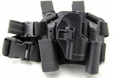 Airsoft Tactical CQC Polymer Drop Leg Right Holster for USP Style Pistol