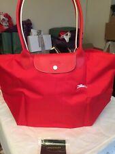 Longchamp Le Pliage LARGE Shoulder bag in Vermilion  New  with tags AUTHENTIC