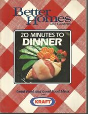 Better Homes and Gardens 20 Minutes To Dinner PB 1987