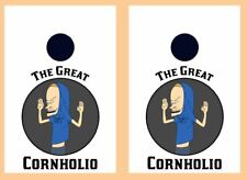 "I am Cornholio Cornhole 24"" x 36"" Board Wraps Free Application Squeegee #3526"