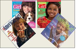 4 Mini 'American Girl'  Magazines Barbie Blythe Fashion Doll size 1:6 playscale