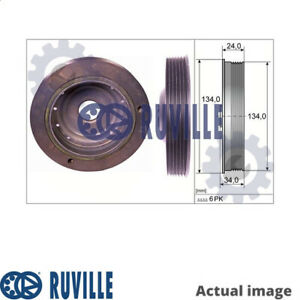 NEW CRANKSHAFT BELT PULLEY FOR RENAULT MEGANE SCENIC JA0 1 K4M 708 RUVILLE