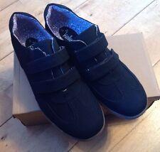 Para Mujeres Dr Keller Velc entrenador de zapatos talla 8 Negro Mirada De Gamuza bomba comodidad felxibl