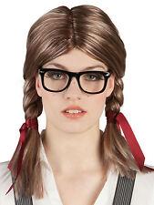 Nerd Perücke für Damen NEU - Karneval Fasching Perücke Haare