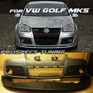 NEW VW Golf MK5 GTI STYLE Front Bumper 2004 - 2009 GTI V