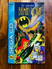 Adventures of Batman and Robin Sega CD Manual Instruction Very Good Beautiful