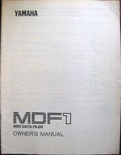 Yamaha MDF1 Midi Data Filer Disk Drive Unit Original Owner's Operating Manual