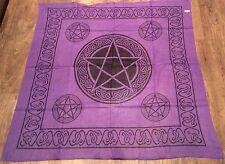 "Pentagram Celtic Scarf - Altar Cloth 40"" x 40"" 100% Cotton- Wicca Pagan"