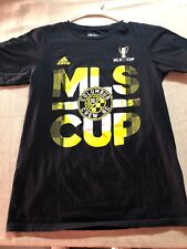 Adidas Columbus Crew Soccer T-shirt Black  Mens Size Small Free Shipping