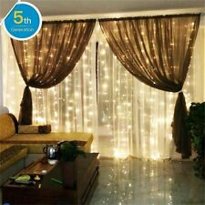 6x3m 600 LED Curtain Fairy Lights Indoor Outdoor Christmas Garden Party Warm
